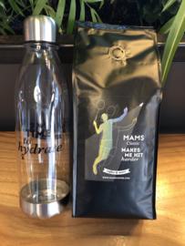 (P10 sport) 500gr koffiebonen (Badminton (Selena Piek)) + MAMS Water Bottle