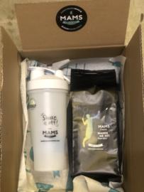 (P9 sport) 500gr koffiebonen (Badminton (Selena Piek)) + MAMS Blender Bottle (Shake)