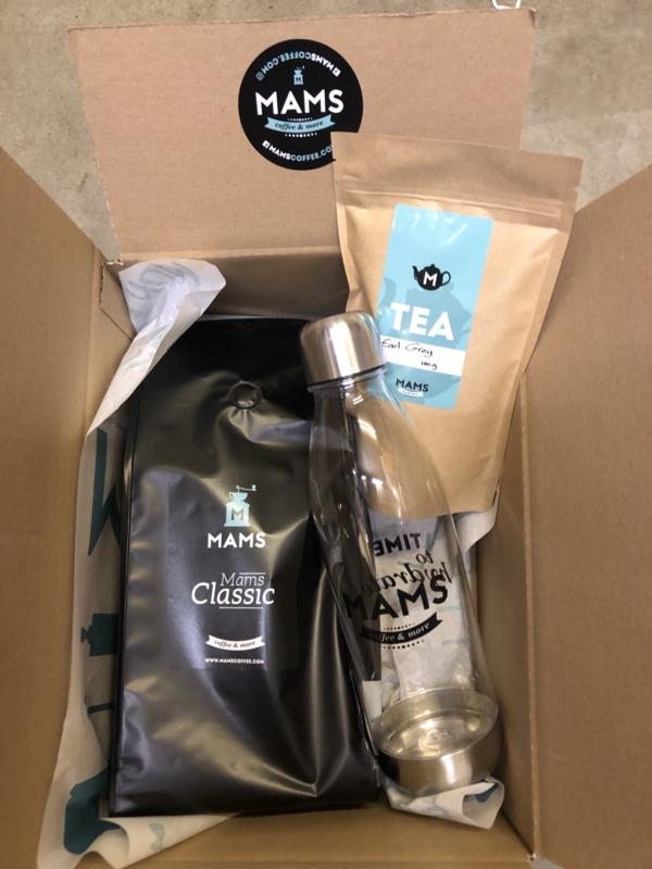 (P13 thuiswerken) MAMS koffiebonen, Thee & Waterfles
