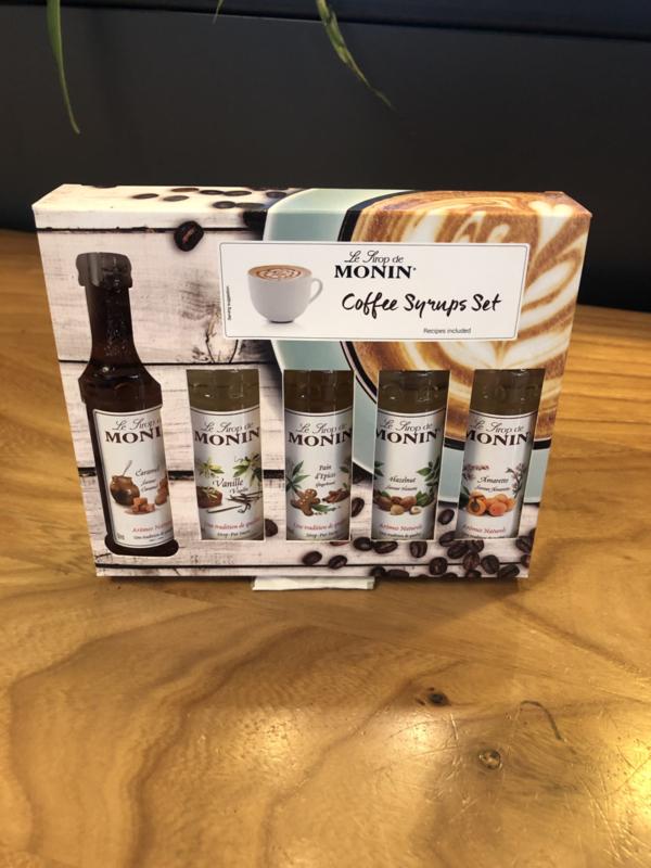 Monin coffee siropen (5 smaken)