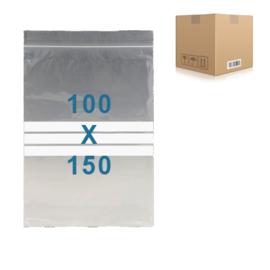 1000 x gripzakjes met schrijfbanden         100 x 150 mm