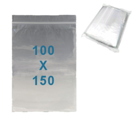 100 x sachets zip           100 x 150 mm