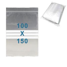 100 x gripzakjes met schrijfbanden         100 x 150 mm