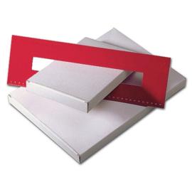 25 x platte brievenbusdozen   A6