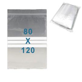 100 x gripzakjes met schrijfbanden         80 x 120 mm