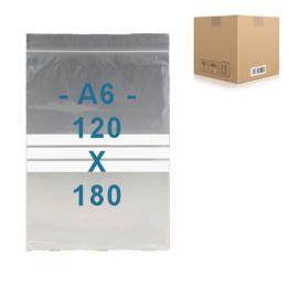 1000 x gripzakjes met schrijfbanden   A6      120 x 180 mm