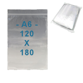 100 x sachets zip  A6         120 x 180 mm