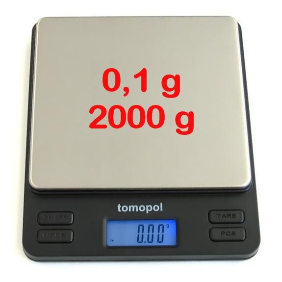 precisieweegschaal M2000 weegbereik tot 2000g in stappen van 0,1g