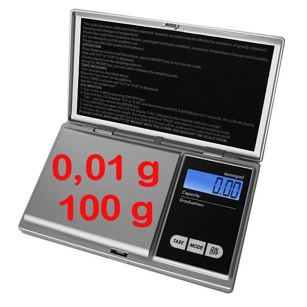 zakweegschaal P100 weegbereik tot 100g in stappen van 0,01g