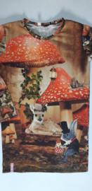 Herten paddenstoel muis jurkje