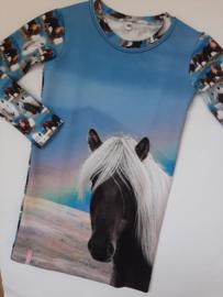 Paarden jurkje paneel regenboog