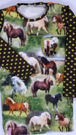 Paardenjurk met stip mouw maat 110
