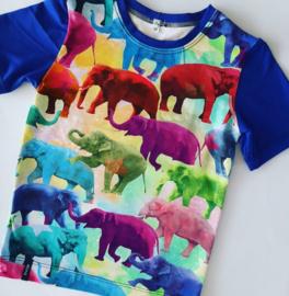 Gekleurde olifanten t shirt