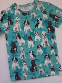 Honden t shirt aqua