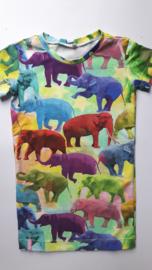 Gekleurde olifanten jurk