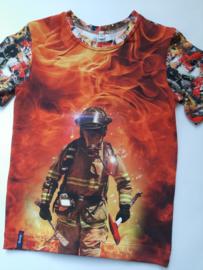 Brandweerman vuur t shirt