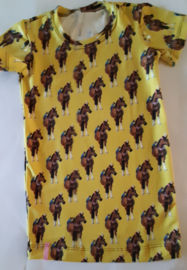 Paarden jurkje geel