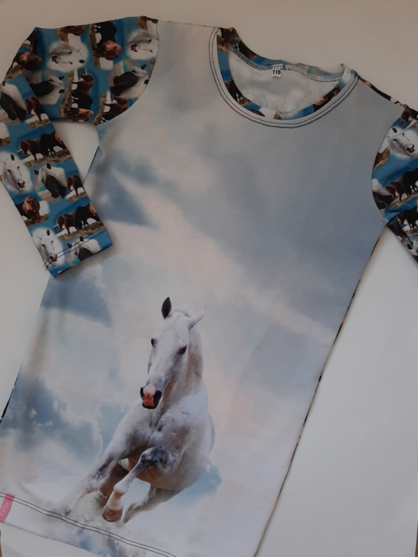 Paarden jurkje wit paard
