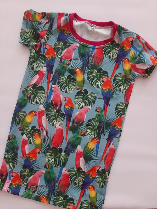 Papagaaien zomer jurkje