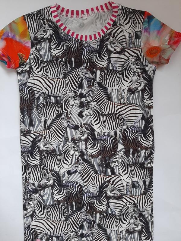 Bonte zebra jurk