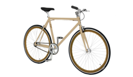 CUSTOM BUILD SINGLE SPEED FIETS CREMA