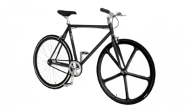 CUSTOM BUILD SINGLE SPEED FIETS BLACKY