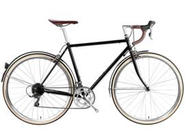 6ku  City bike Delrey Metalic black met 16 vitessen