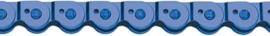 Point halflink ketting blauw