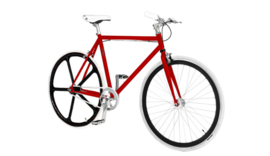 CUSTOM BUILD SINGLE SPEED FIETS RED DEVIL