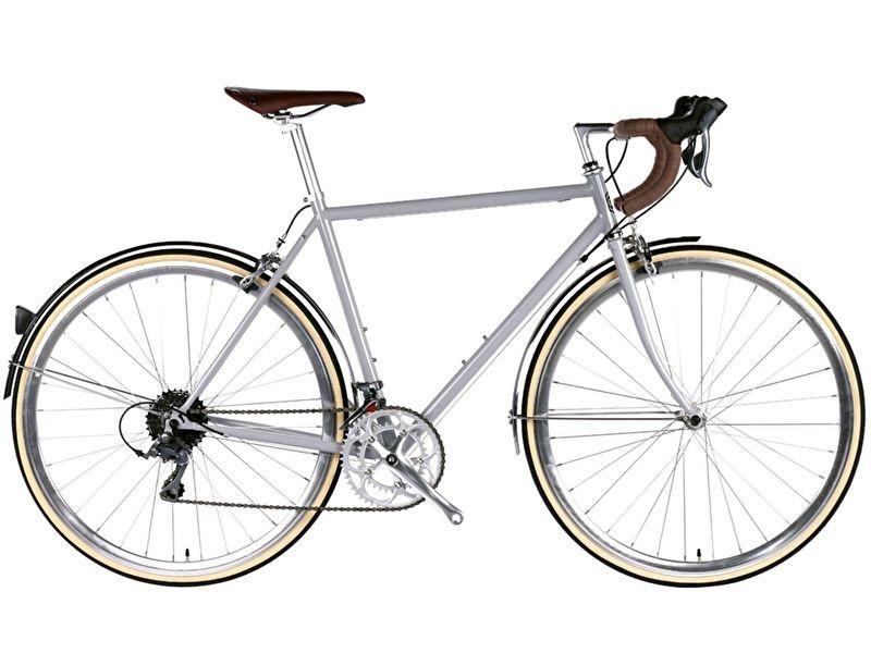 6ku  City bike Highland Lightgrey met 16 vitessen