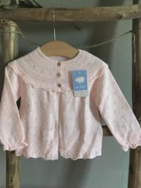 Mac Ilusion fijn gebreid vestje in het Blis roze.