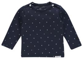 Fijn zacht Noppies shirtje donkerblauw met ster.