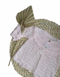 Prachtig fijn gebreid vestje van Mac Ilusion in  het Blis Rosa.