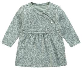 Heerlijk zacht jurkje van Noppies in het oudgroen met dots.