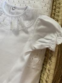 Prachtige witte romper met kant van Valentina Bebes.