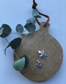 haarknipje met zilveren strik