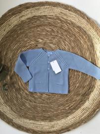 Prachtig blauw gebreid vestje van Mac Ilusion.
