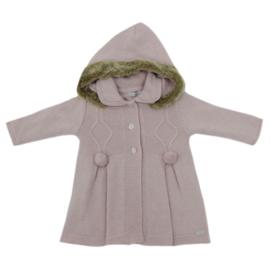 Prachtig zacht gebreid vest jasje van het merk Dr Kid in het oudroze.