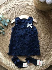 Prachtig uitgewerkt jurkje van Mac Ilusion in de kleur donkerblauw.