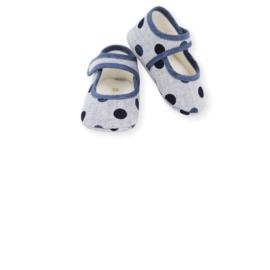 Prachtige ballerina schoentjes van Mac Ilusion  in het blauw.