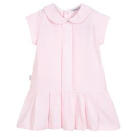 Babidu jurkje met geplooide rok in het roze en wit.