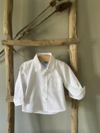 Prachtige katoenen blouse van Dr Kid in het wit.