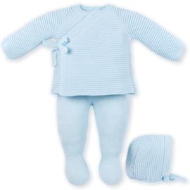 Mac Ilusion 3 delig gebreid pakje babyblauw