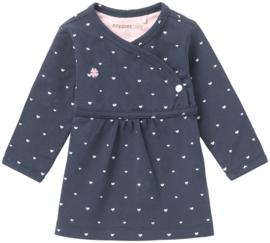 Prachtig jurkje van Noppies met fijne elastan in het donkerblauw.
