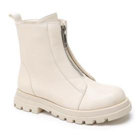Stoere boots in de kleur beige.