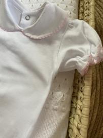 Mooie romper van Valentina Bebes in het wit /roze