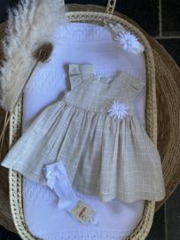 Prachtige Mac Ilusion jurk in de kleur Natural.