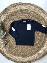 Stoere ,klassieke gebreide trui van Mac Ilusion in het donkerblauw.