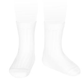 Cóndor sokken met streepmotief in het wit.