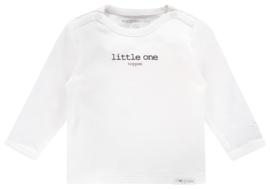 Fijn Noppies shirtje in het wit met zwart.